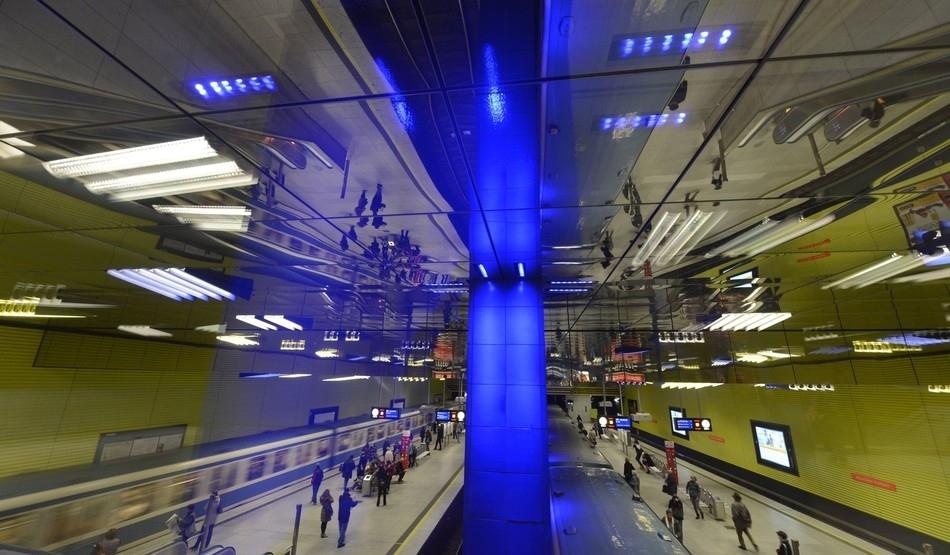 Westfriedhof station in Munich, Germany