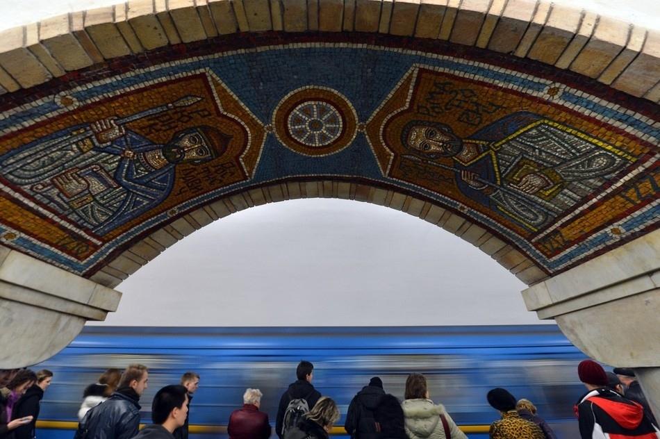 Metro station in Kiev, Ukraine